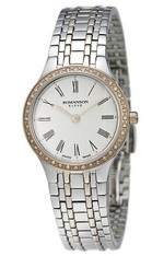 ROMANSON LADIES DIAMOND WATCH EM4252KL1JA16R