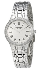 ROMANSON LADIES DIAMOND WATCH EM4252KL1WA12W