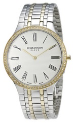 ROMANSON MEN&#39S DIAMOND WATCH EM4252KM1CA11G