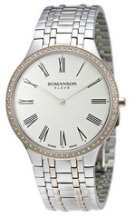 ROMANSON MEN&#39S DIAMOND WATCH EM4252KM1JA16R