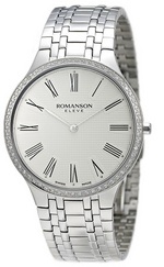 ROMANSON MEN&#39S DIAMOND WATCH EM4252KM1WA12W