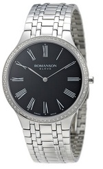 ROMANSON MEN&#39S DIAMOND WATCH EM4252KM1WA32W